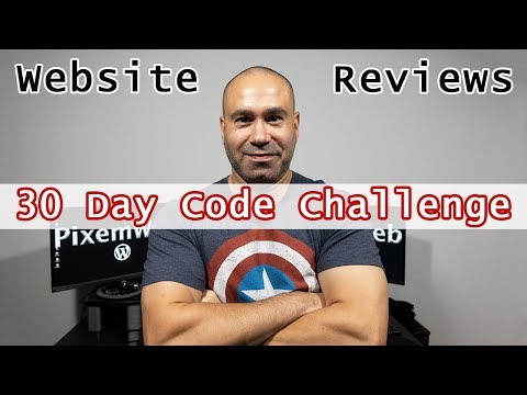 30 Days of Code Challenge Plus Website Reviews