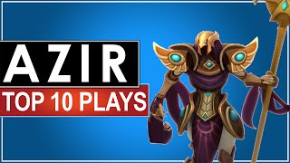 Azir Top 10 Plays (Montage) ft. Faker, Fenix, Dade, Bischu, Pawn