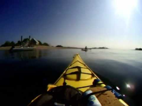 Kayaking across the Long Island Sound