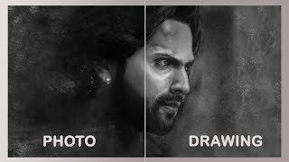 Drawing Kalank - Realistic Sketch | Varun Dhawan Sketch Step by Step| Kalank Sketch