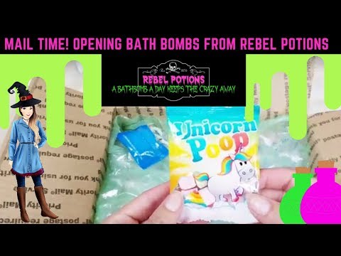 MAIL TIME! Opening Bath Bombs from Rebel Potions