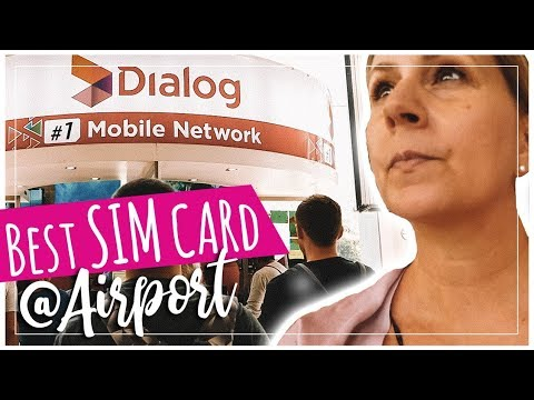 Dialog Sri Lanka Best PrePaid SIM Card At Colombo Airport
