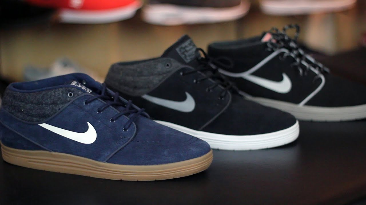 official photos b5ee8 f62fa Nike SB Lunar Stefan Janoski Mid Skate Shoes Review - Tactics.com
