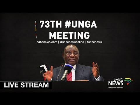 President Cyril Ramaphosa addresses the 73rd #UNGA: 25 September 2018