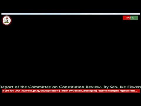 Nigerian Senate Plenary, 25th  July, 2017