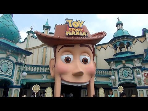 Toy Story Mania in Japanese Complete Ride POV Tokyo DisneySea Japan