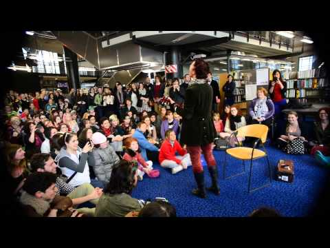 """Creep"" Performed By Amanda Palmer In Wellington City Library"