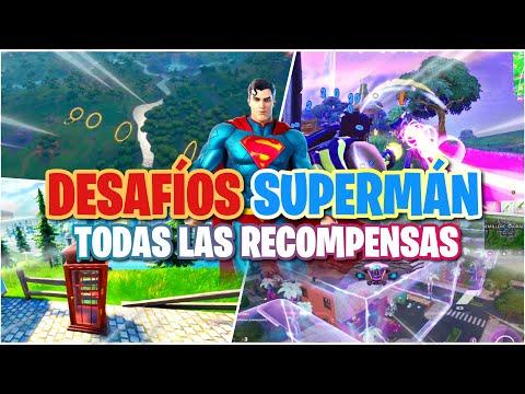COMO COMPLETAR TODAS LAS MISIONES DE SUPERMAN FORTNITE | CONSEGUIR TODAS LAS RECOMPENSAS DE SUPERMAN