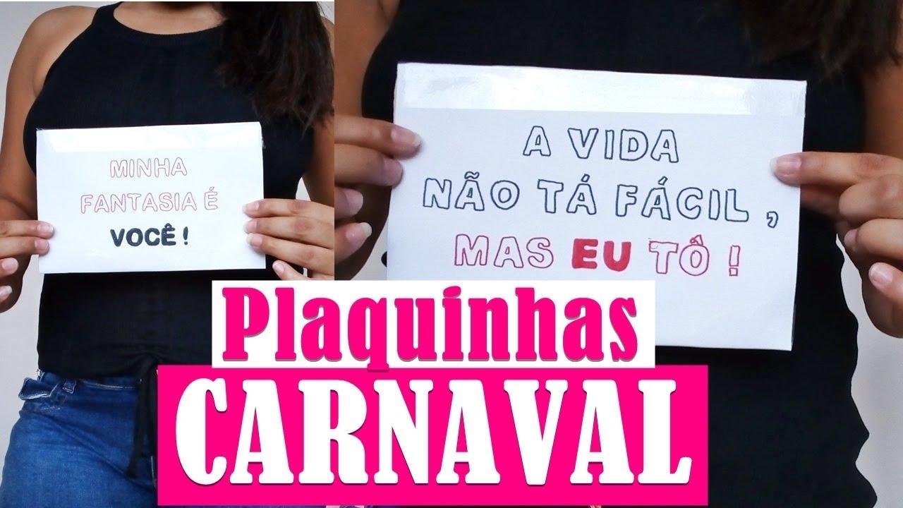 Como Fazer Plaquinha Para O Carnaval
