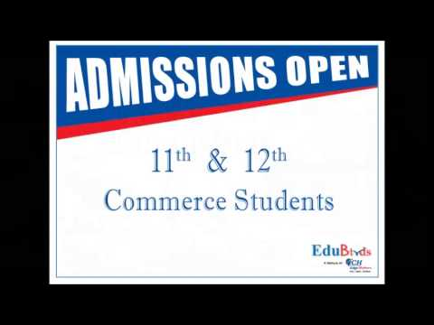 Admissions open for 11th & 12th commerce students