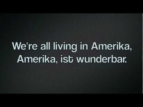 Rammstein - Amerika. lyrics in Deutsch, HD.