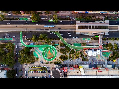 """Dissing + Weitling completes """"world's longest"""" elevated cycling path in China"""