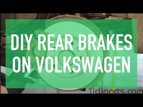 Rear Brake Pads & Brake Rotor Replacement Volkswagen Jetta Sportwagen Golf MkV