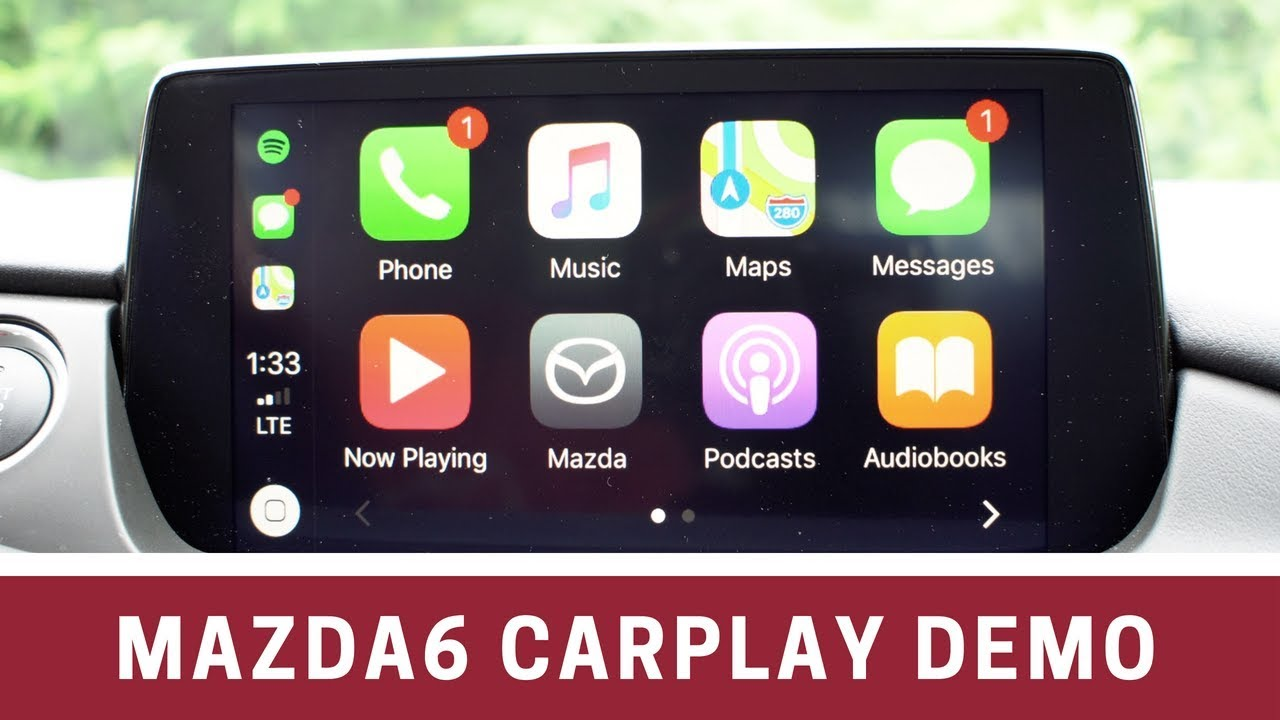 2018 Mazda6 Apple Carplay Demo Details Youtube