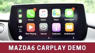 2018 Mazda6 Apple CarPlay Demo & Details
