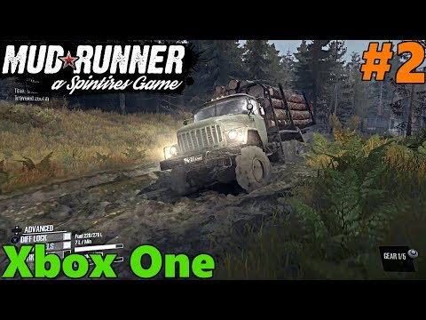 SpinTires Mud Runner: XBOX ONE Let's Play, Part 2! Lumber ON THE WAY!!