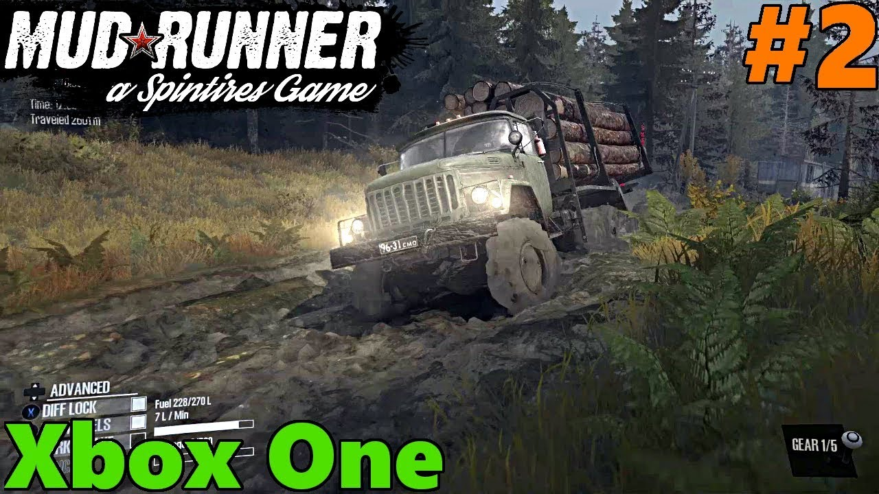 spintires mud runner xbox one let 39 s play part 2 lumber. Black Bedroom Furniture Sets. Home Design Ideas