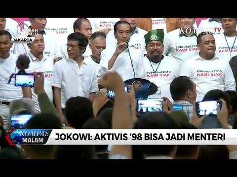 Jokowi: Aktivis '98 Bisa Jadi Menteri
