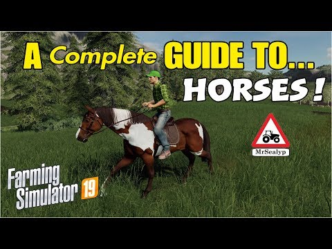 A complete Guide to... HORSES! Farming Simulator 19, PS4. Tutorial.