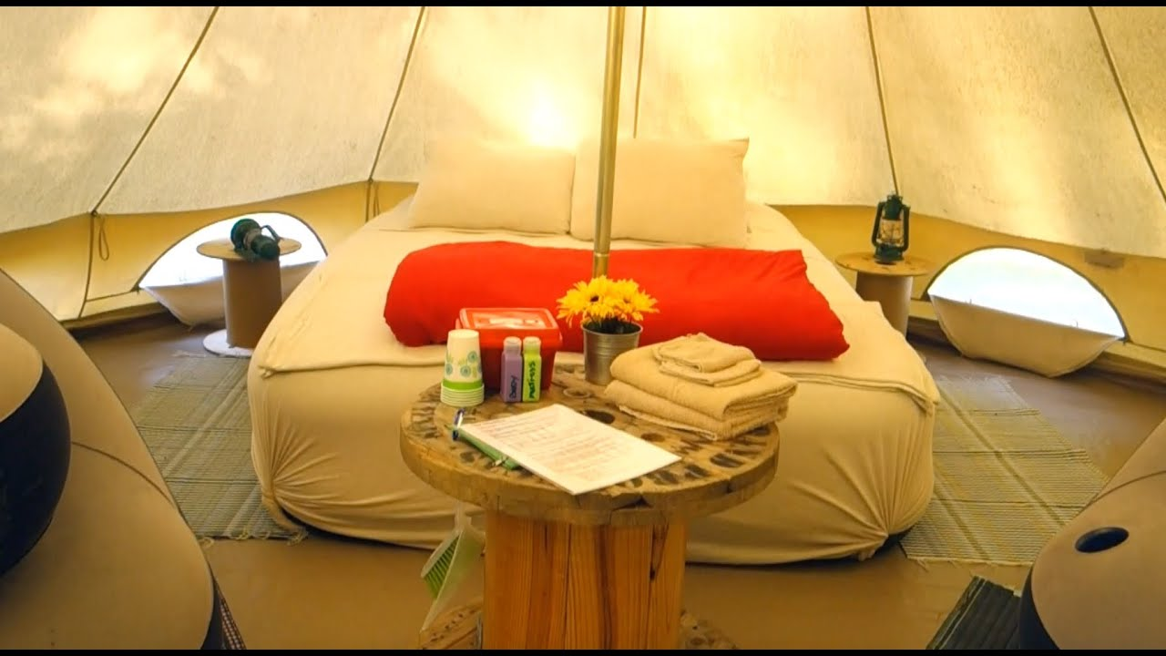 & Glamping In A Tent - YouTube