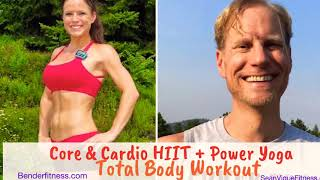 Cardio Core HIIT + Power Yoga and Cool Down: Amazing Home Workout