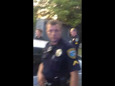 Police violate rights all the way until camera pulled out