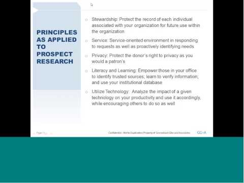 Prospect Research as a Career for Library and Information Science Professionals November 2013