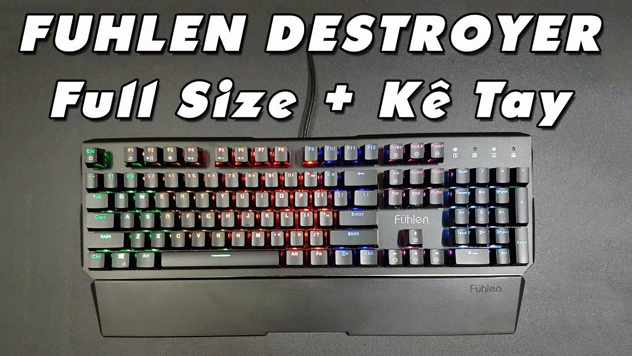 [Review] Bàn phím cơ Fuhlen Destroyer – Fuhlen D, Blue Switch Quang học bất tử, Led Rainbow 7 màu