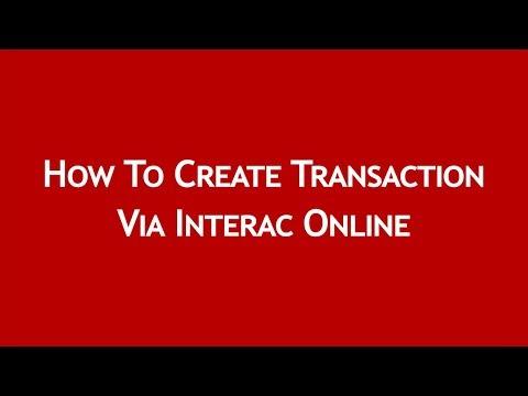 How to Create Transaction through Interac Online