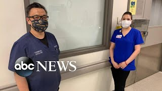 Doctor cleans room for hospital housekeeper   WNT