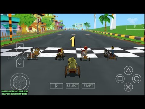 Game Racing Seru Cuma 100Mb - Cart Kings Ppsspp Android