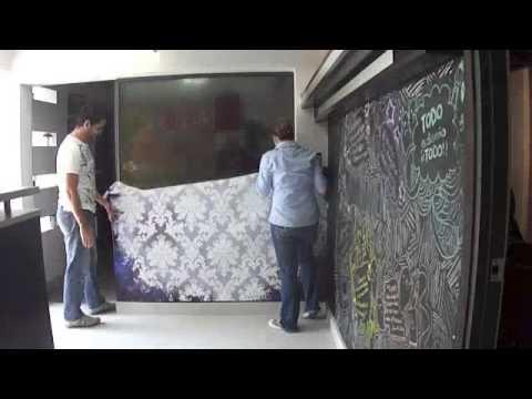 Instalacion de papel tapiz youtube - Papel adhesivo para paredes ...