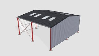 Steel building sidewalls assembly