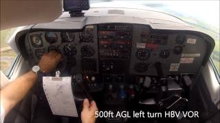 Take off in a Cessna C210 turbo at Lanseria, South Africa
