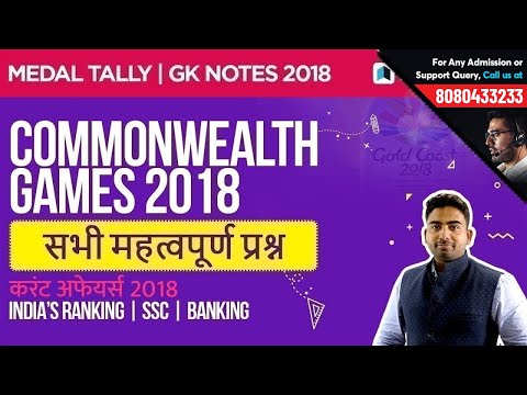 commonwealth-games-2018-(राष्ट्रमंडल-खेल-2018)---important-mcq-for-ssc,-banking,-rrb