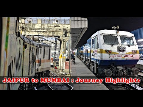 JAIPUR to MUMBAI via KOTA : A Complete Train Journey (Indian Railways)