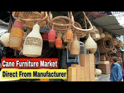 WHOLESALE FURNITURE MARKET IN MUMBAI | CANE FURNITURE MARKET | CHEAP PRICE | BANDRA MARKET