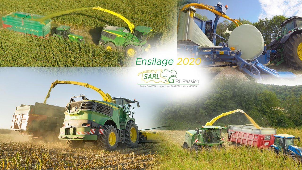 JOHN DEERE 9700i & 8400i à l'ensilage de maïs plante entière et épis! X7 Tracteur remorque! 🟢🟡🌽