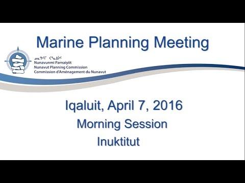 Marine Planning Meeting Inuktitut