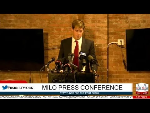 Milo Yiannopoulos FULL Press Conference 2/21/17