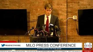 Milo Yiannopoulos FULL Press Conference 2/21/17 by : Right Side Broadcasting