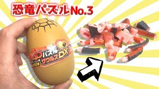 【4Dpuzzle dinosaur】High Difficulty Real dinosaur 3D Puzzle Part.3