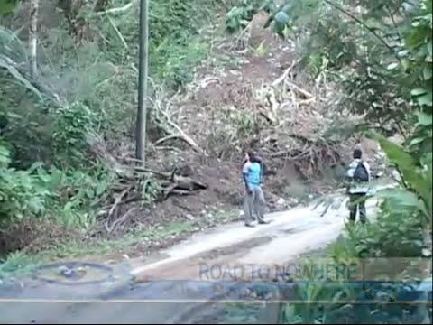 SORRY STATE OF ROADS IN DUGARD CHOISEUL (STLUCIA)
