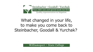 What changed in your life, to make you come back to Steinbacher, Goodall & Yurchak?