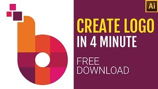 Logo design | logo Erstellen in 4 Minuten | Buchstabe B logo | adobe illustrator | Gratis-Download
