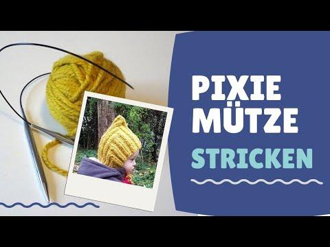 0 - Pixie Mütze stricken DIY