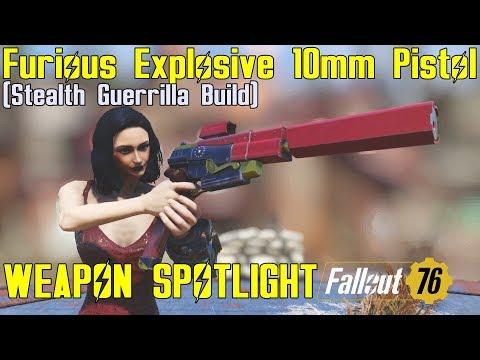 Fallout 76: Weapon Spotlights: Furious Explosive 10mm Pistol thumbnail