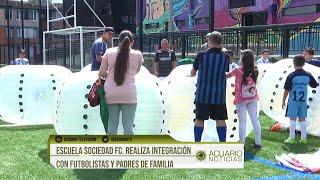 Escuela Sociedad FC. realiza integración con futbolistas y padres de familia