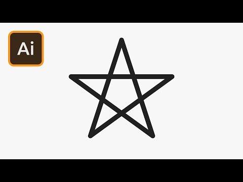 Pentagram Star in Illustrator | 2 Minute Tutorial