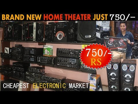 BRAND NEW HOME THEATER JUST 750/-|  cheapest Electronic market ,DJ lights,, Market